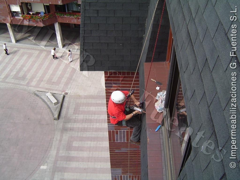 Reparaciones mediante trabajos verticales