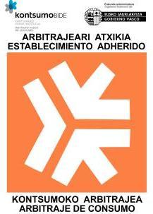 Empresa adherida al arbitraje de consumo en el Instituto Vasco de Consumo - Kontsumobide